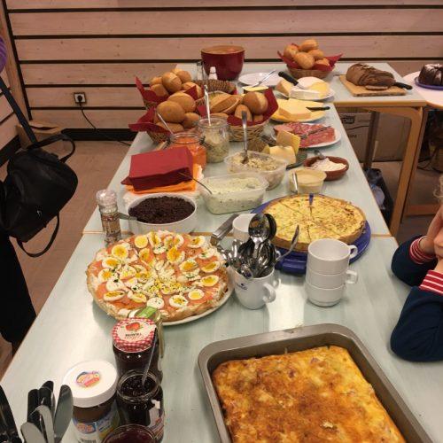 Gemeinsames Frühstück Mitte Februar 2020