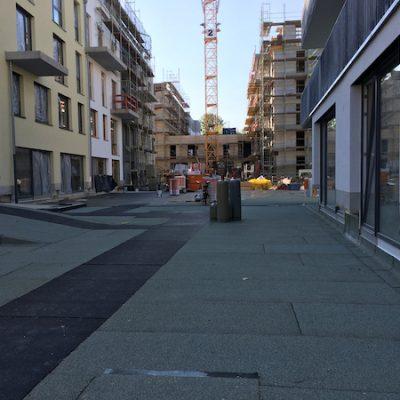 19.4.2020: Blick Richtung Haus C und Haus A
